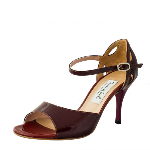 Comme il Faut Shoes - Charol Bordo 7cm