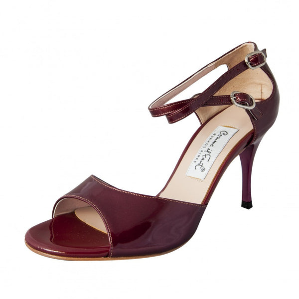Comme il Faut Shoes - Charol Bordo 8cm