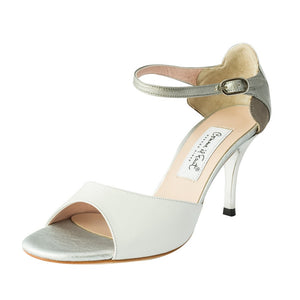 Exclusive Comme il Faut Tango Shoes - Blanco y plata