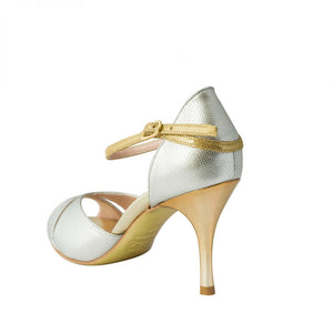 Exclusive Comme il Faut Tango Shoes - Plata y Dorado