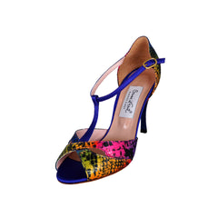 Comme il Faut Shoes - Multicolor y Violeta 8cm