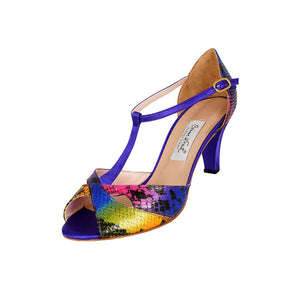 Comme il Faut Shoes - Multicolor y Violeta 6cm