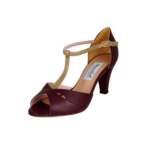 Exclusive Comme il Faut Tango Shoes - Bordo y Dorado 6cm