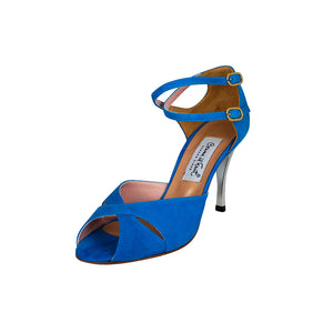 Exclusive Comme il Faut Shoes - Gamuza Turquesa 8cm