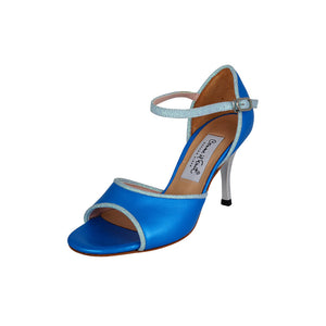 Exclusive Comme il Faut Tango Shoes - Azul y Celeste 7cm
