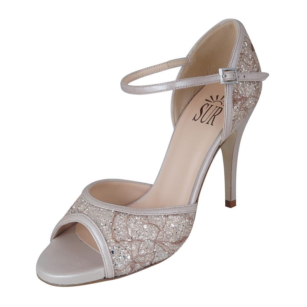 SUR - Odette Glitter Beige 9cm heel (Regular to Narrow)