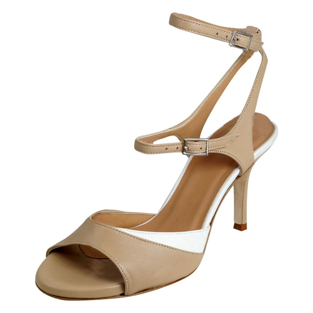 Fiona Beige and White 7cm (Wide)