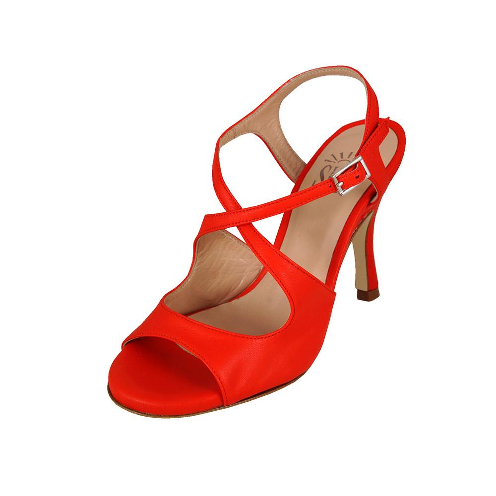 Dita Nappa Rosso 8cm (Regular to Wide)