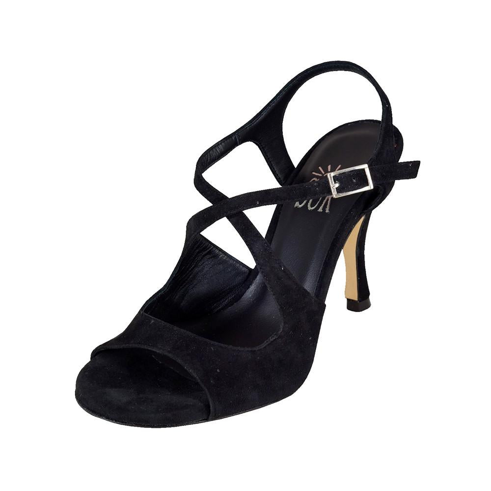 SUR - Dita Camoscio Nero 8cm heel (Regular to Wide)