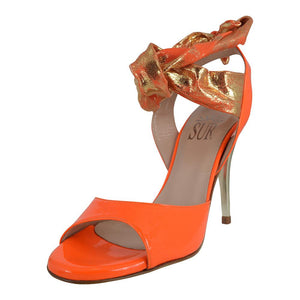Paloma Vernice Arancio/Gold 9cm (Regular/Narrow)