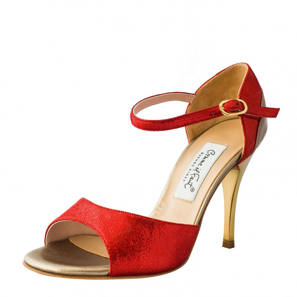 Comme il Faut shoes red and bronze