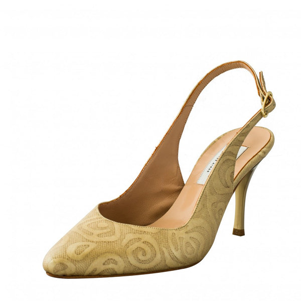 Comme il Faut Dance Shoes Exclusive - Rosas beige 7cm