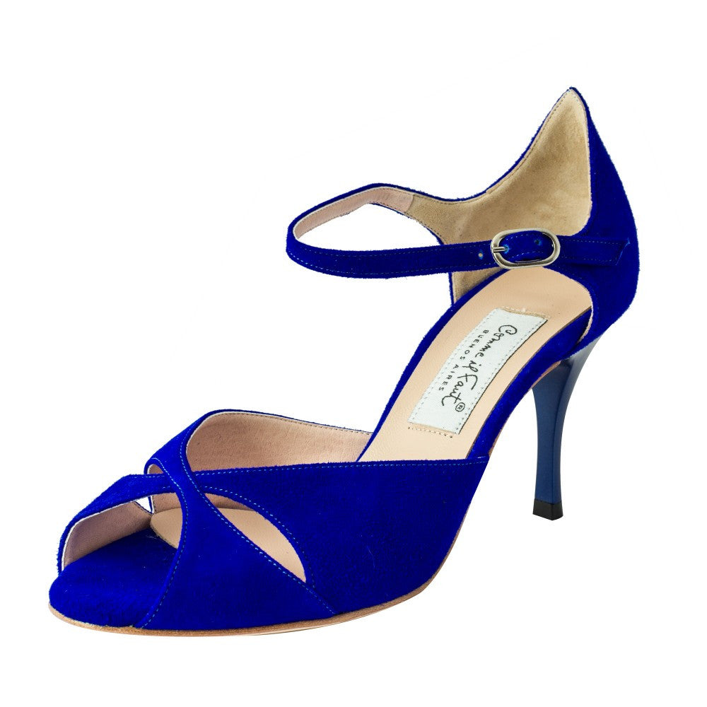 Exclusive Comme il Faut Tango Shoes - Azul Francia