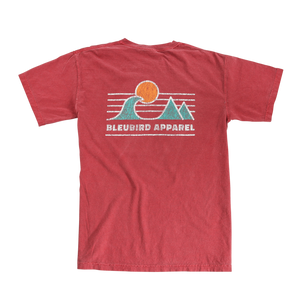 Crimson Horizon Tee