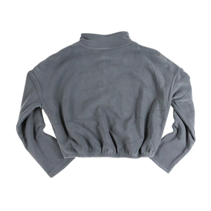 Cropped Fleece - Charcoal