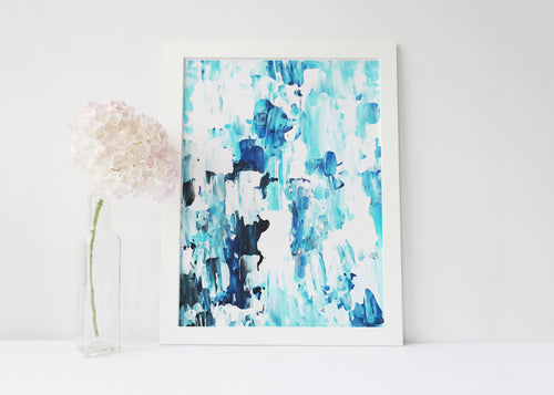 Blue Abstract Painting Print