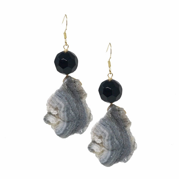 Natural Cut Geode Earrings