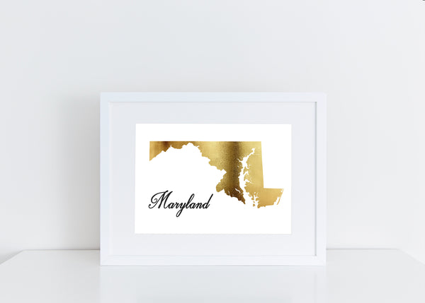 Gold Maryland Print