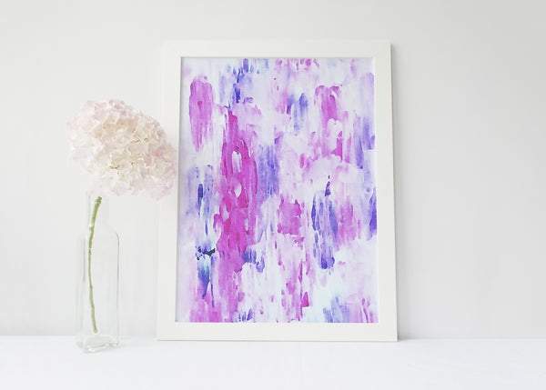 Pink Abstract Painting Print