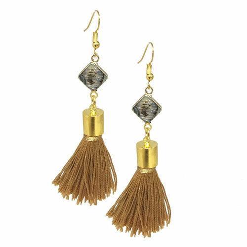 Tan and Abalone Tassels