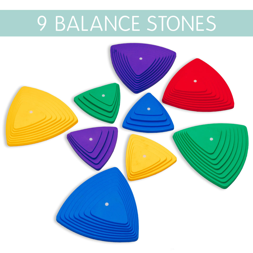 9 Balance Stones - Multi-Color