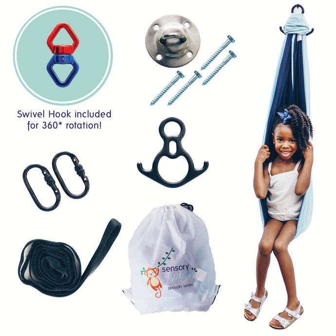 Sensory Compression Swing & 360* Swivel Hook