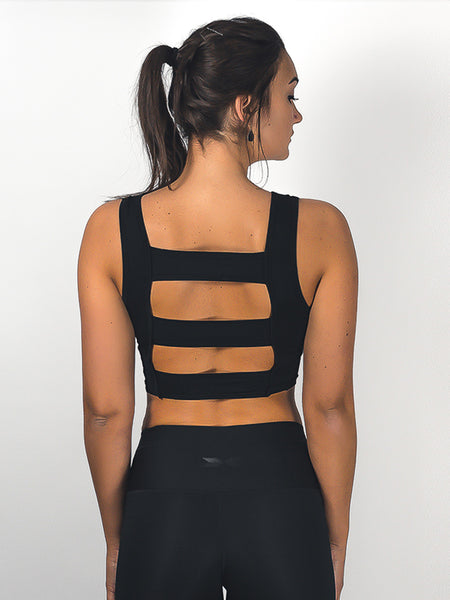 Three-Stripe Top Black