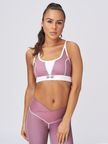 Strong & Strappy Sports Bra Berry Chocolate