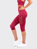 Elevate Capri Tights Red Velvet