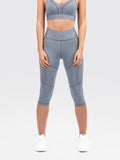 Elevate Capri Tights Steel Grey