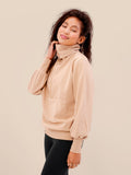 The Essential Zip Sweater Beige