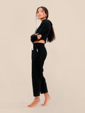The Essential Rib Pants Black