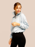 Free Spirit Zipup Sweater Baby Blue