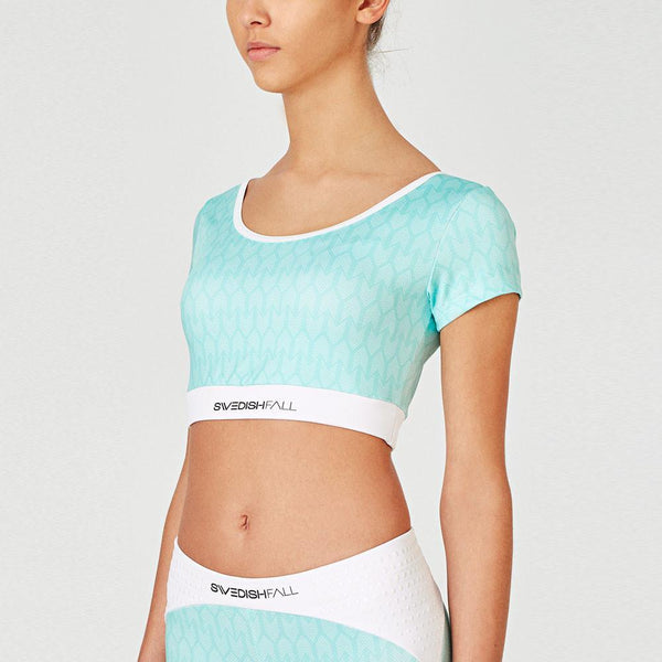 SWEDISH FALL Cheerleading Crop Top Cool Mint Vorderseite