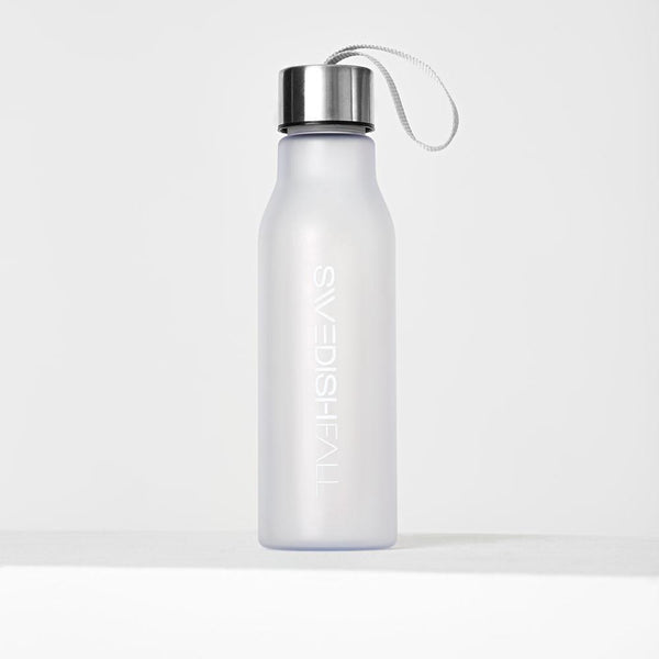 SWEDISH FALL Bottle White Trinkflasche Vorderseite mit Aludeckel