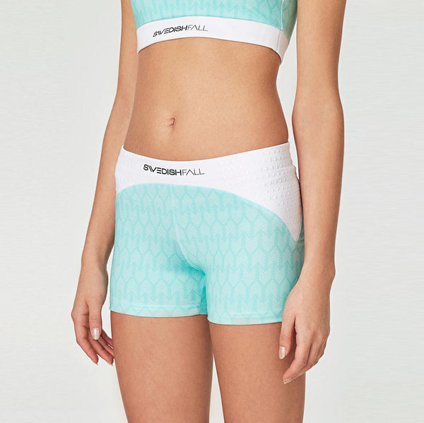 SWEDISH FALL Cheerleading Shorts in Cool Mint Vorderseite