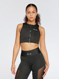 Elevate Zip Bra Pure Black