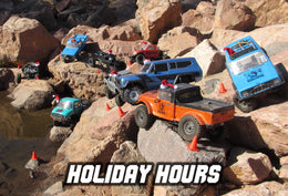 Holiday Hours: Shop Closed Through Jan. 2nd