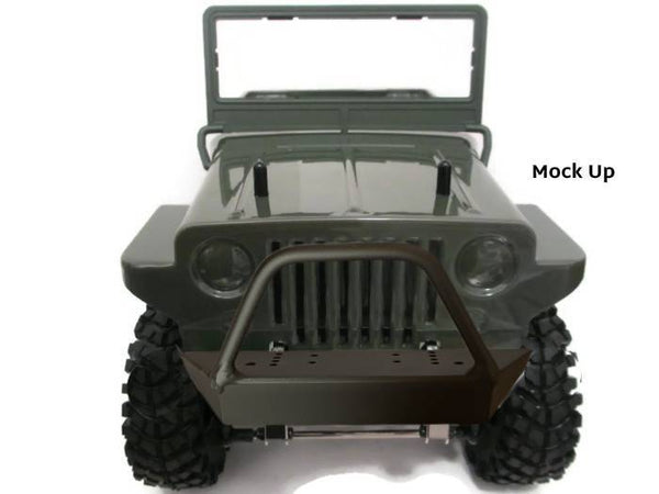 G-Made Sawback Front Bumper with Trail Bar - scalerfab-r-c-trail-armor-accessories scale rc crawler truck hobby