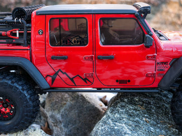 ScalerFab Steel Adjustable, Bolt-On Rock Sliders for Axial Racing SCX10 III Jeep Gladiator