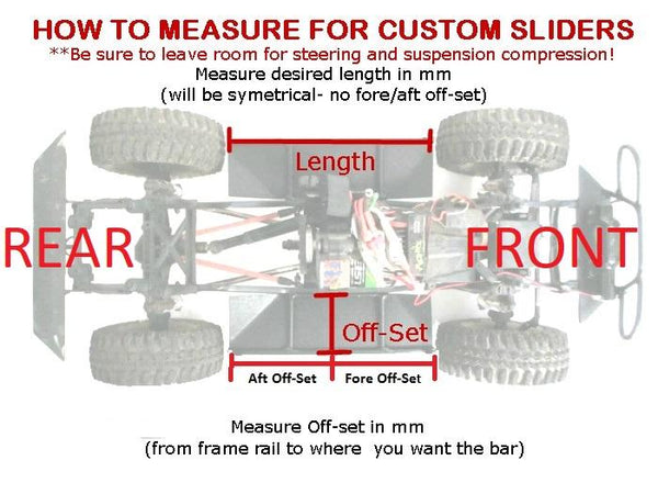 TF2 Standard Rock Sliders - scalerfab-r-c-trail-armor-accessories scale rc crawler truck hobby