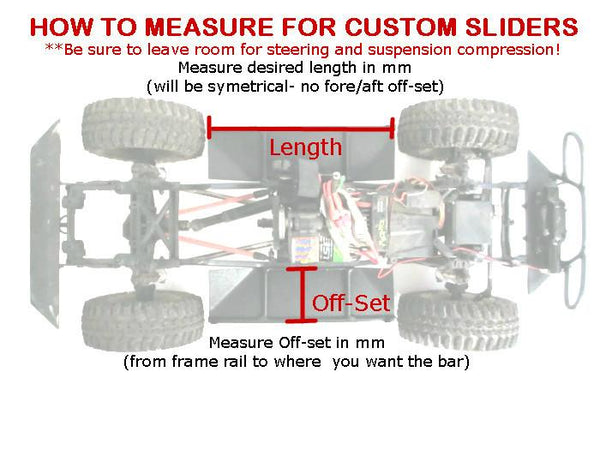 Vaterra Ascender Standard Rock Sliders - scalerfab-r-c-trail-armor-accessories scale rc crawler truck hobby