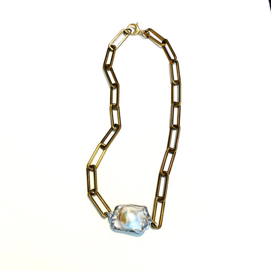Large Baroque Pearl on Chain