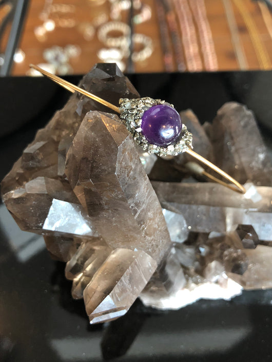 Amethyst and Pyrite