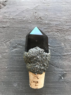 Smokey Quartz wine stopper