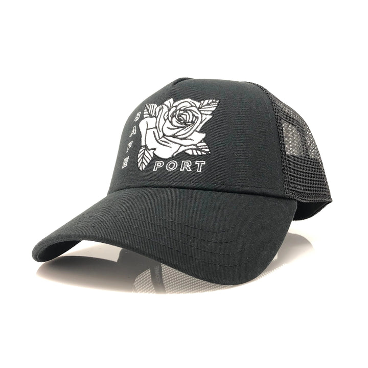 Smell the Roses Trucker (Black)