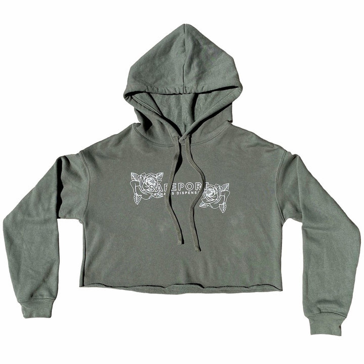 Smell the Roses Cropped Hoodie