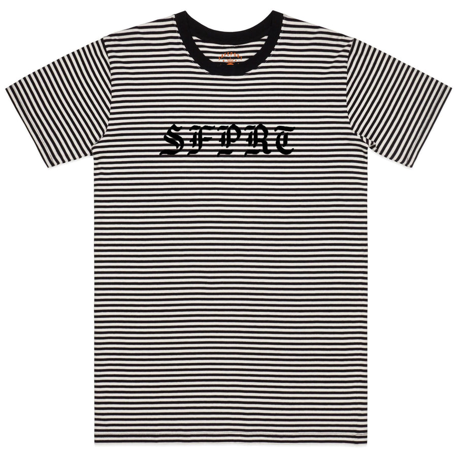 Gothball Striped Embroidered Tee