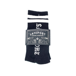 Safeport Old Skool Socks (Blk/Wht)