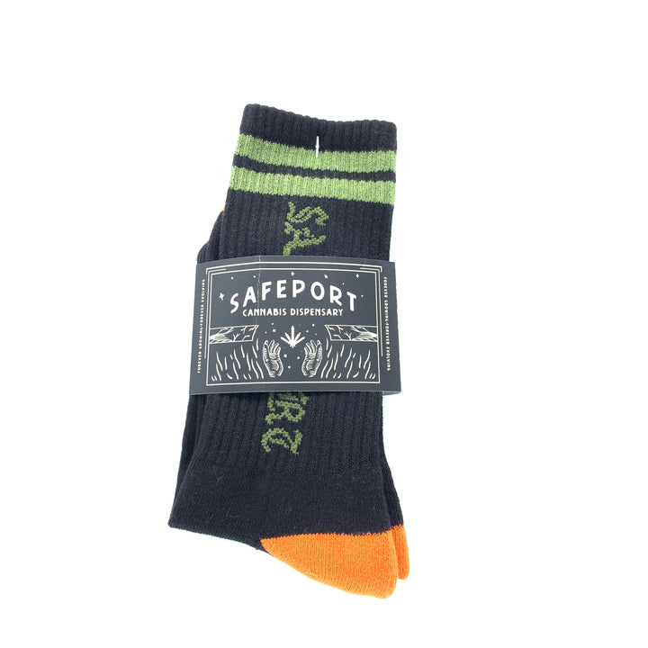 Safeport Old Skool Socks (Grn/Blk)